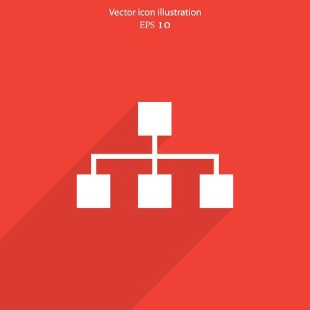 lan: Vector network web flat icon. Eps 10 illustration.