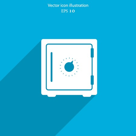 Vector bank safe web icon. Eps 10.