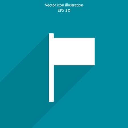 reference: Vector flag web icon Eps 10. Illustration