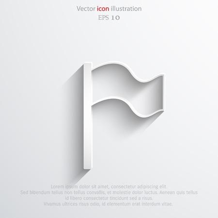 intention: Vector flag web icon. Eps 10 llustration.