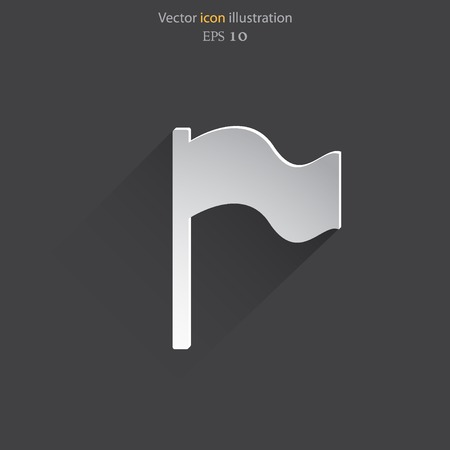 reference point: Vector flag web icon Eps 10. Illustration