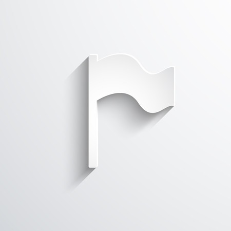 reference point: Vector flag web icon. Eps 10 llustration.