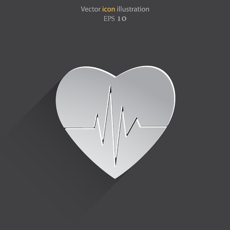 rhythm: Vector cardiogram or heart rhythm medical icon. Eps 10.