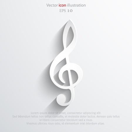 10 key: Vector music key web icon. Eps 10.