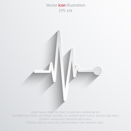 Vector pulse icon Heart beat cardiogram. Eps 10.