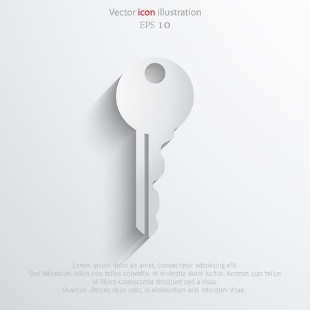 10 key: Vector key web icon Eps 10.