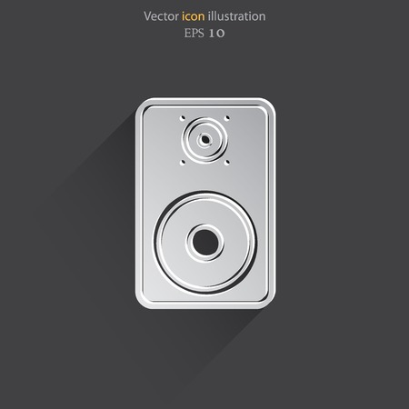 woofer: Vector sub woofer web icon. Eps 10.
