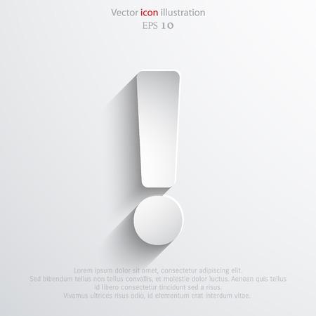 Exclamation web icon background. Eps 10 vector illustration.