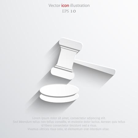 Vector hammer judge web icon. Eps 10.