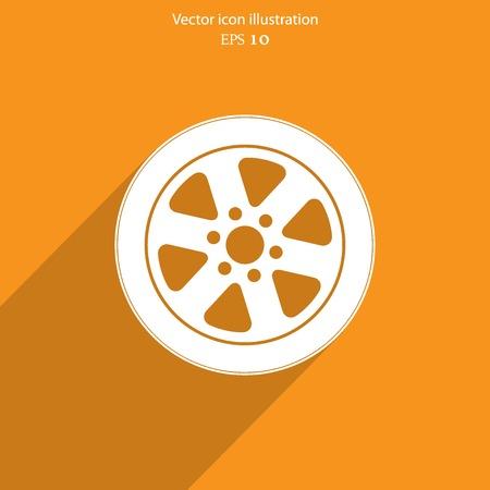 vector tyre: Vector tyre web flat icon.