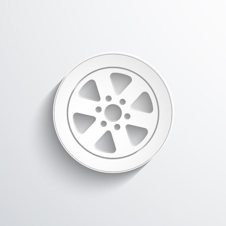 vector tyre: Vector tyre web flat icon.