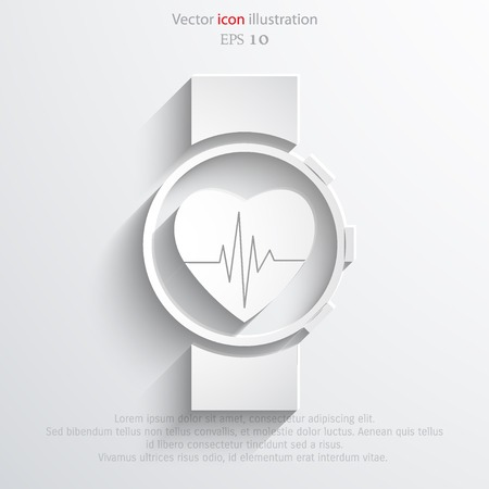 Vector medical watch web icon. Eps 10. Illustration