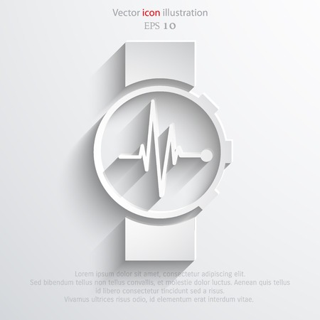 pulsating: Vector medical watch web icon. Eps 10. Illustration