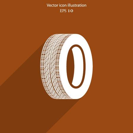 vector tyre: Vector tyre web icon Eps 10.