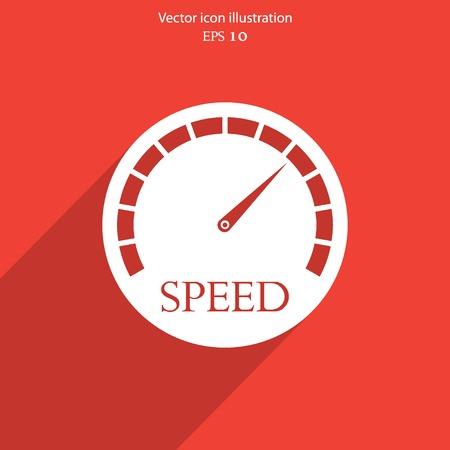 speed test: Vector speedometer web icon Eps 10. Illustration