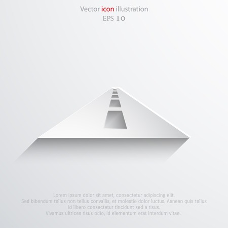 Vector road web icon Eps 10.