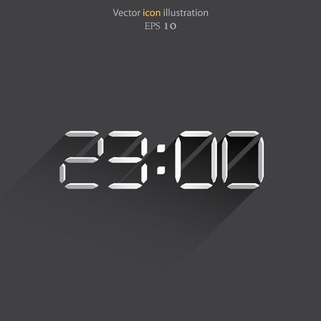 Vector electronic clock web icon. Eps 10.