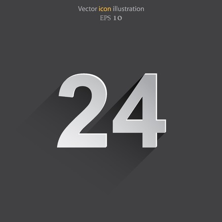 around the clock: Vector all day open web icon. Eps 10.