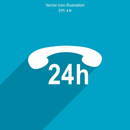 telemarketer: Vector support web icon Eps 10. Illustration