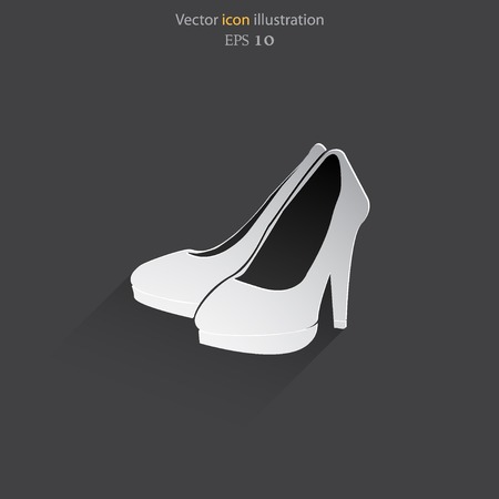 Vector woman boots web icon. Eps 10. Illustration