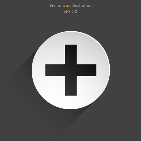 lockout: Vector plus web flat icon in circle Illustration