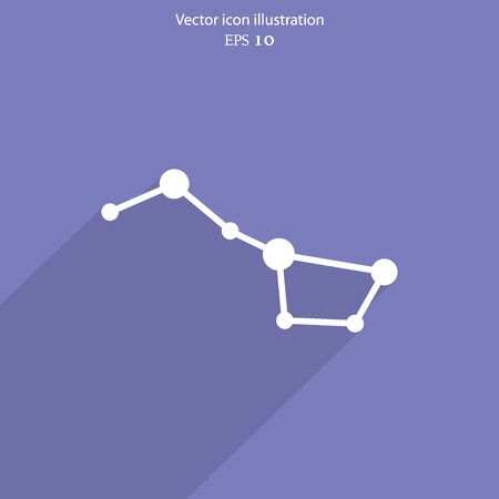 Vector constellation the Great Bear web icon. Eps 10.