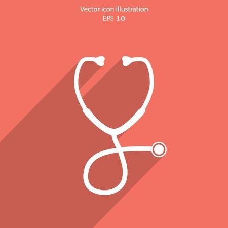 Vector stethoscope web icon.