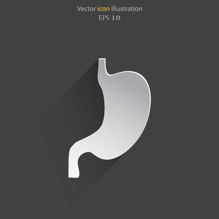 colonoscopy: Vector flat belly icon. Illustration