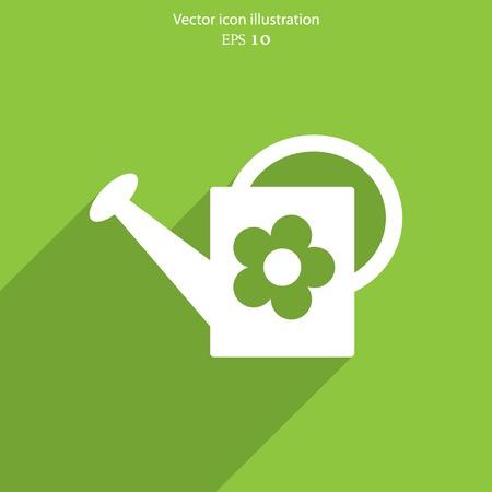 watering can: Vector bailer web icon