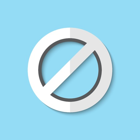 not allowed: Vector not allowed sign web icon