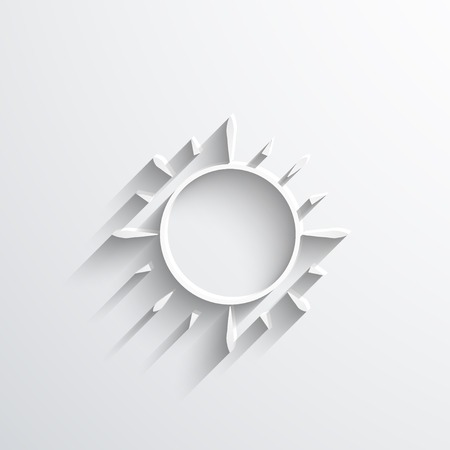 incandescent: sun web flat icon.
