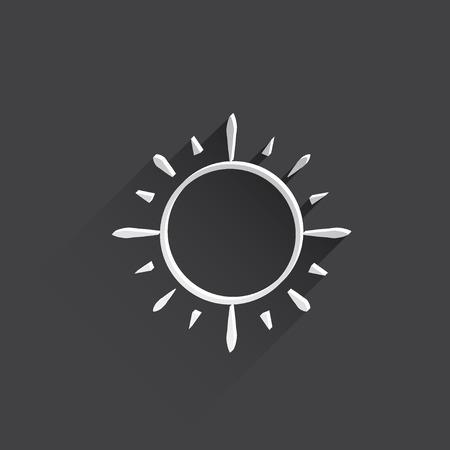 beam with joy: sun web flat icon.
