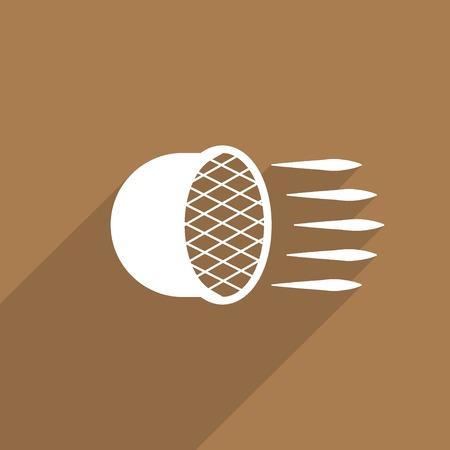 headlight: Car headlight flat icon. Stock Photo