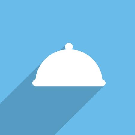 cloche: restaurant cloche web icon Stock Photo