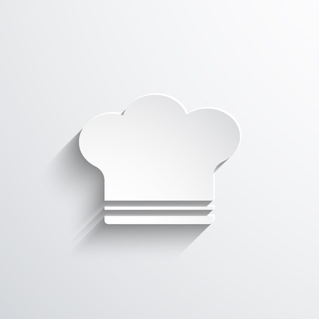 fine cuisine: cooking cap web icon Stock Photo