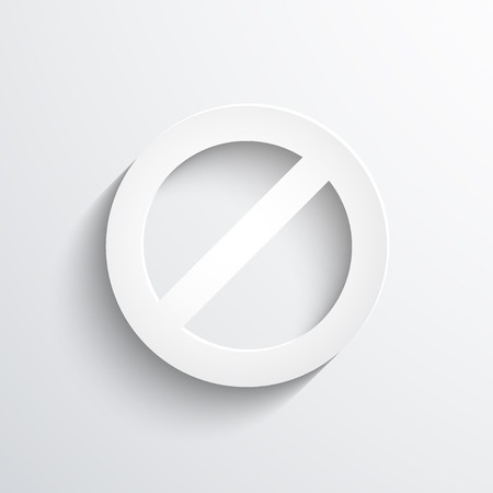 restrictive: not allowed sign web icon