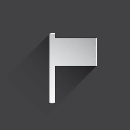 set the intention: flag web icon.