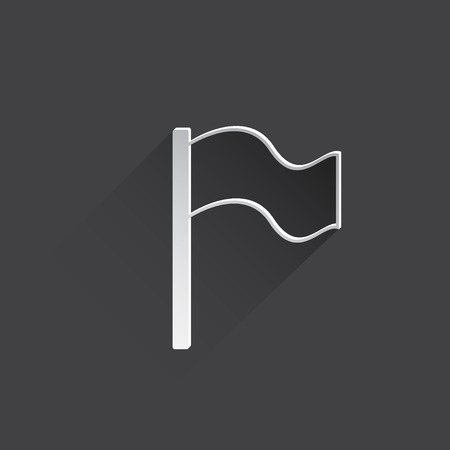 reference point: flag web icon.