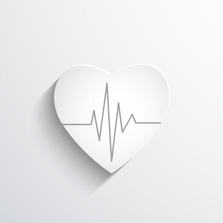 rhythm: cardiogram or heart rhythm Stock Photo