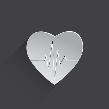 cardiogram: cardiogram or heart rhythm Stock Photo