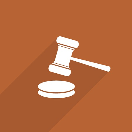 hammer judge web icon.