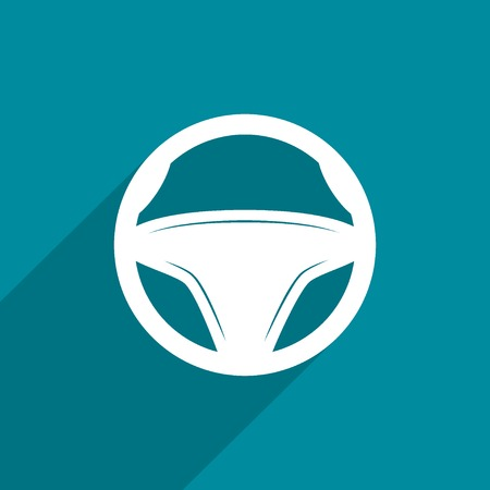steering wheel, web icon. photo