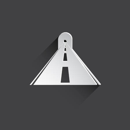 road tunnel: road with tunnel web icon. Stock Photo