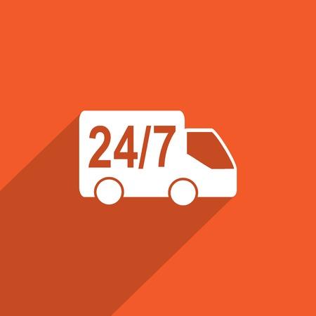 twenty four hour: twenty four hour delivery web icon.