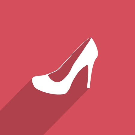 buckles: woman boots web icon. Stock Photo