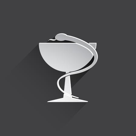 caduceus medical symbol: caduceus medical symbol icon.