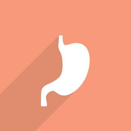 colonoscopy: flat belly icon.