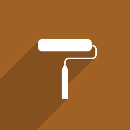paint roller web icon. photo