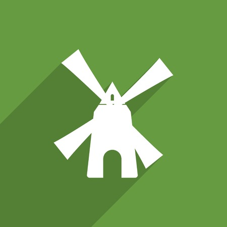 agro: mill web icon. Stock Photo