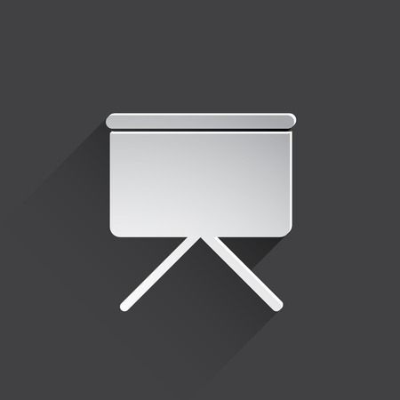 projection screen: projection screen web icon.